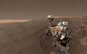 Curiosity Rover Selfie Mars Dünya & Uzay Kanvas Tablo