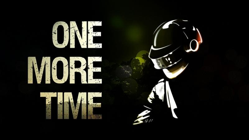 Daft Punk One Mor Time Popüler Kültür Kanvas Tablo