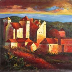 Dağ Evi 13, Doğa Manzaraları İç Mekan Dekoratif Kanvas Tablo