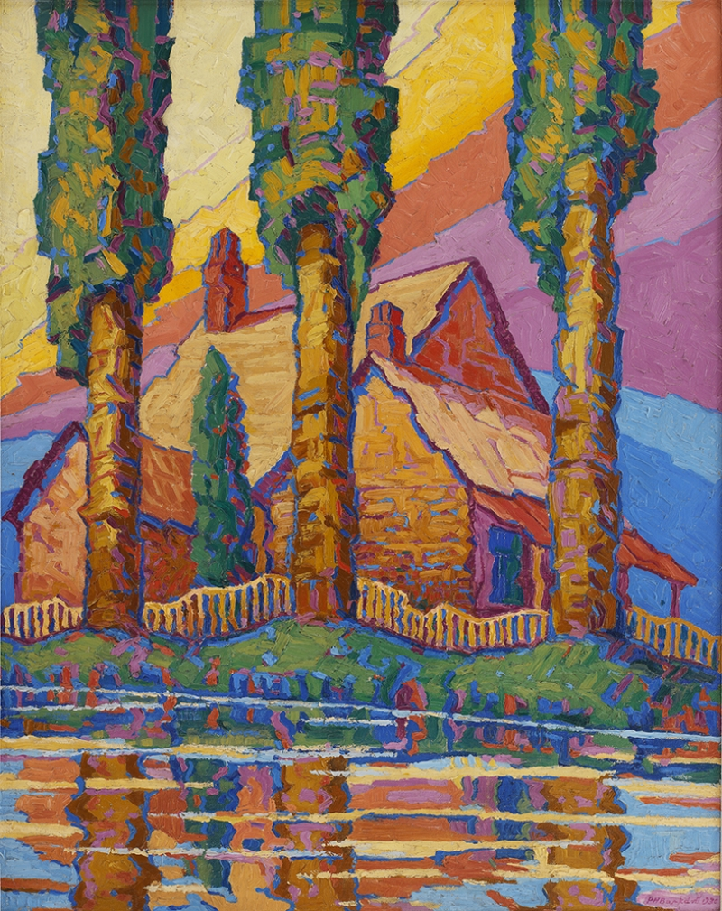 Dağ Evi Yağlı Boya Sanat Kanvas Tablo