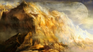 Dağ Manzarası Yağlı Boya Sanat Kanvas Tablo