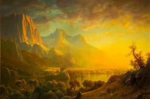 Dağ Orman Göl Deniz Doğa Manzaraları 1 Yağlı Boya Sanat Kanvas Tablo