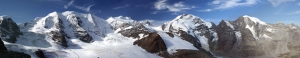 Dağ ve Kar 2 Panaroma Panaromik Manzara Kanvas Tablo