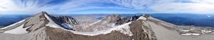 Dağın Zirveside Kar Panaroma Panaromik Manzara Kanvas Tablo