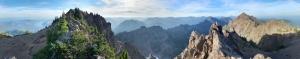Dağlar Panaromik Kanvas Tablo