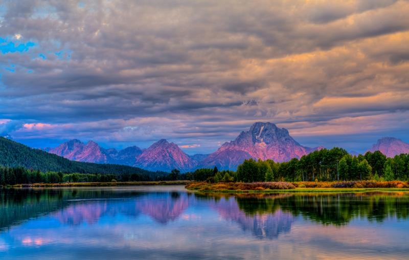 Dağlar ve Ormanlar Doğa Manzaraları Kanvas Tablo