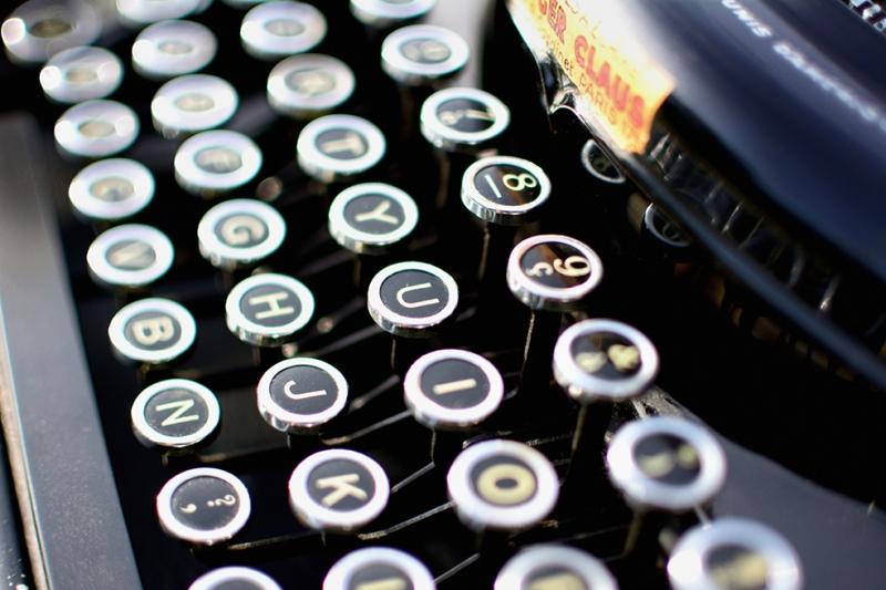 Daktilo Fotoğraf Kanvas Tablo