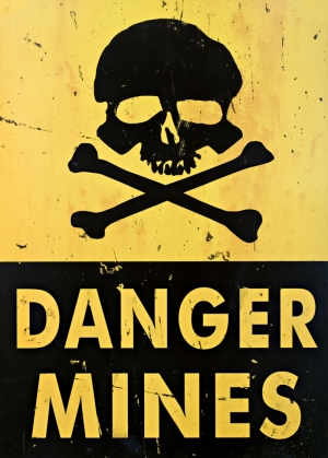 Danger Mines 2 Retro & Motto Kanvas Tablo