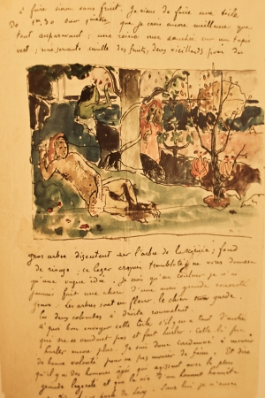 Daniel De Monfreide Mektup Paul Gauguin Reproduksiyon Kanvas Tablo