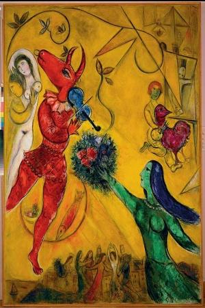 Dans Günü Marc Chagall La Dance Klasik Sanat Kanvas Tablo