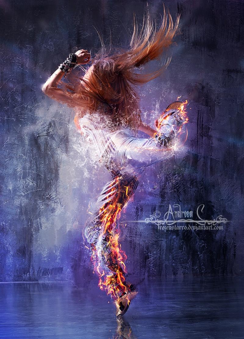 Dansçı Kız - Modern Dans 1 - Kanvas Tablo