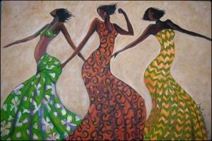 Dansçı Kızlar Yağlı Boya Sanat Kanvas Tablo