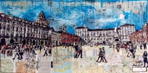 Dante Meydani Torino Italya Sanat Kanvas Tablo
