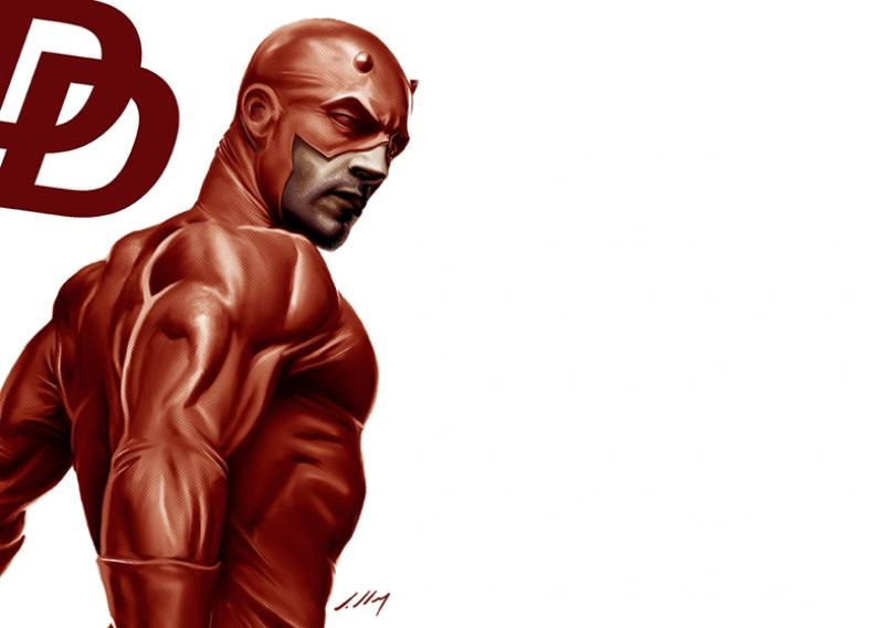 Daredevil Süper Kahramanlar Kanvas Tablo 2