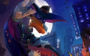 Darkwing Duck Süper Kahramanlar Kanvas Tablo