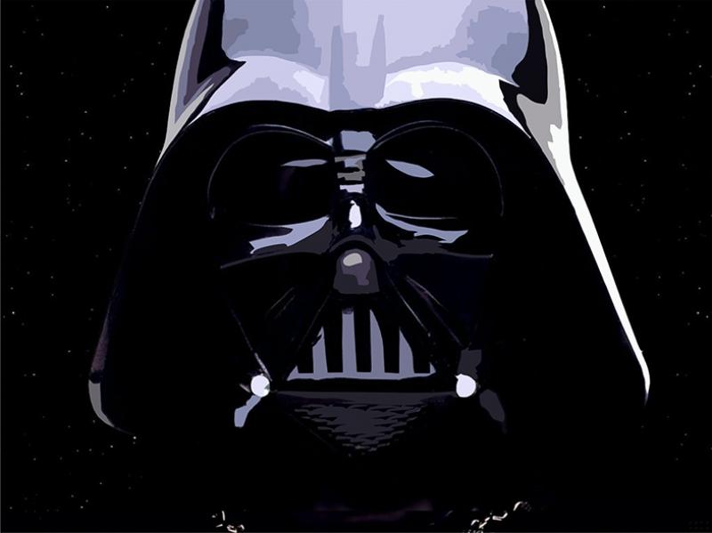 Darth Vader Helmet Star Wars Kanvas Tablo
