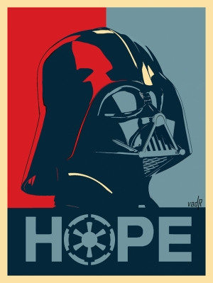 Darth Vader Hope Star Wars Kanvas Tablo