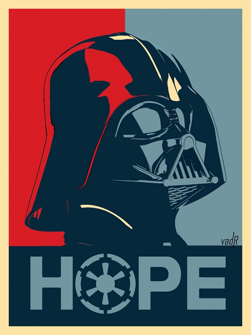 Darth Vader Hope Star Wars Kanvas Tablo
