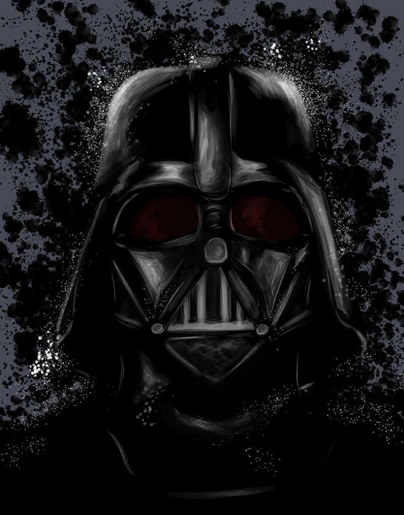 Darth Vader İllustrasyon 2 Star Wars Kanvas Tablo