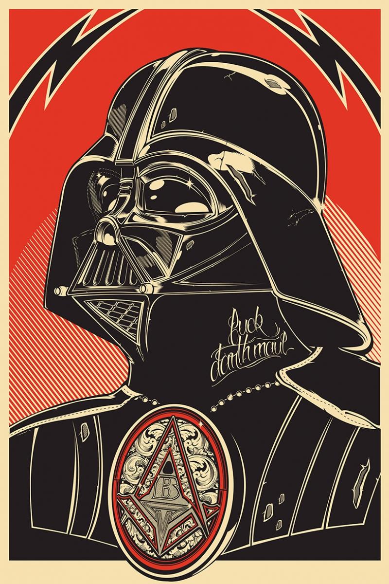 Darth Vader İllustrasyon Star Wars Kanvas Tablo