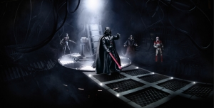Darth Vader Power Star Wars Kanvas Tablo