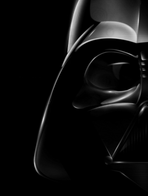Darth Vader Siyah Beyaz Portre Star Wars Kanvas Tablo
