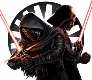 Darth Vader vs Klyo Ren 2 Star Wars Kanvas Tablo