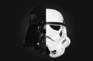 Darth Vader vs Stormtrooper Star Wars Kanvas Tablo
