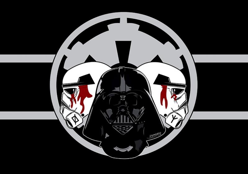 Darth Vader vs Stromtrooper Star Wars Kanvas Tablo