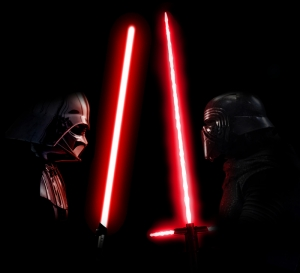 Darth Vader vs Kylo Ren Star Wars Kanvas Tablo