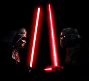 Darth Vader vs Kylo Ren Star Wars Kanvas Tablo