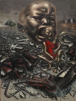 David Alfaro Siqueiros Cığlığın Ekosu Yağlı Boya Klasik Sanat Canvas Tablo
