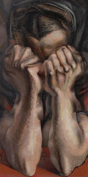 David Alfaro Siqueiros Sinir Ve Hüzün Yağlı Boya Klasik Sanat Canvas Tablo