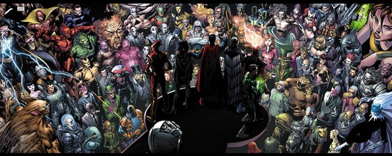 Dc Comic Evreni Süper Kahramanlar Kanvas Tablo