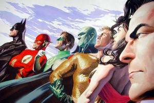 Dc Comic Jucsice League Süper Kahramanlar Kanvas Tablo