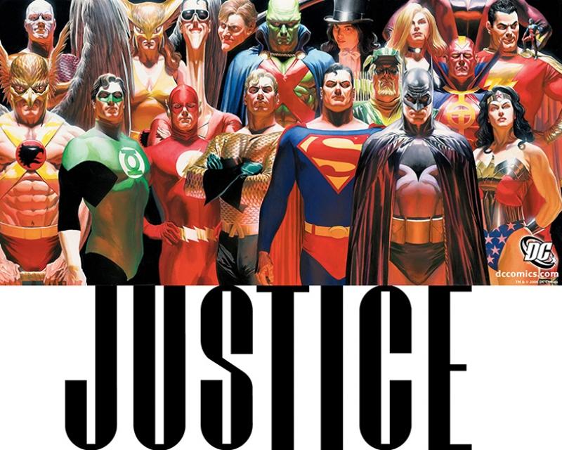 Dc Comic Justice Süper Kahramanlar Kanvas Tablo
