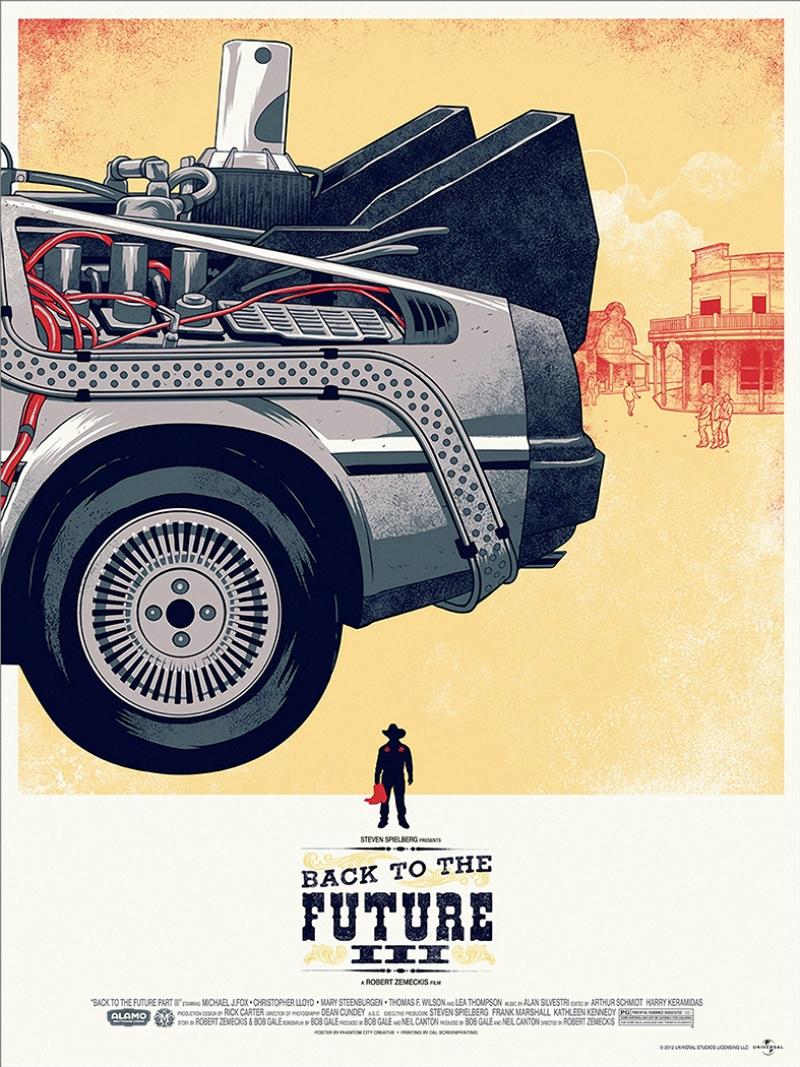 De Lorean Time Machine 3 lü Geleceğe Dönüş Kanvas Tablo 3