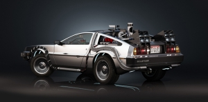 De Lorean Time Machine Geleceğe Dönüş Kanvas Tablo