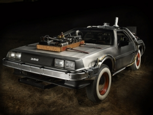 De Lorean Time Machine Otomobil Tablo