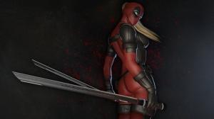Deadpool Kadın-2 Süper Kahramanlar Kanvas Tablo