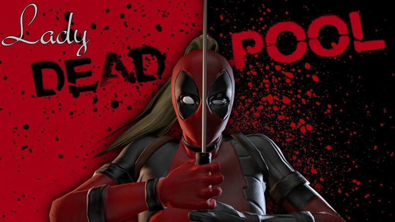 Deadpool Kadın Süper Kahramanlar Kanvas Tablo