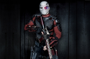 Deadshot İntihar Takimi Will Smith Maskesi Sinema Kanvas Tablo