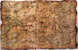 Define Korsan Haritalari Eski Haritalar Cografya Kanvas Tablo
