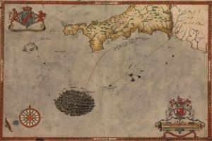 Degisim Ruzgarlari 1588 Ispanyollarin Hafif Ingiliz Donanmasina Yenilmesi Eski Antik Harita Cografya Kanvas Tablo