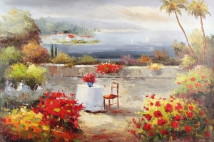 Deniz Doğa Manzaraları 11 İtalya Yağlı Boya Sanat Kanvas Tablo