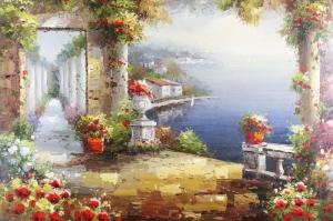Deniz Doğa Manzaraları 12a İtalya Yağlı Boya Sanat Kanvas Tablo