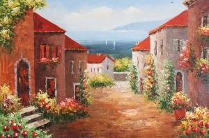 Deniz Doğa Manzaraları 13 İtalya Toscana Yağlı Boya Sanat Kanvas Tablo