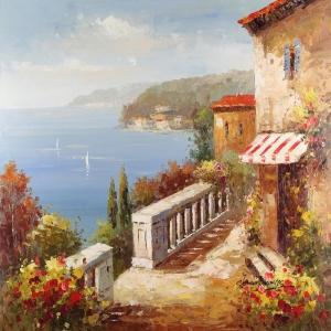 Deniz Doğa Manzaraları 19, İtalya Güney Sahilleri Kanvas Tablo