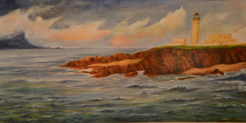 Deniz Feneri 1 Doga Manzarasi Yagli Boya Sanat Kanvas Tablo Arttablo