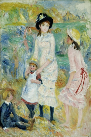Deniz Kıyısındaki Çocuklar Pierre August Renoir, Children On The Seashore Guernsey Klasik Sanat Kanvas Tablo